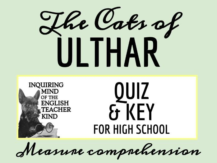 """""""The Cats of Ulthar"""" by H.P. Lovecraft Quiz"""