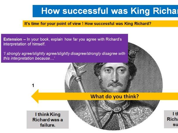 The Crusades - Introduction, The First Crusade, Richard I, The Second and Third Crusade SOW