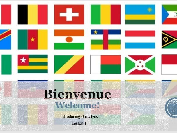 """Year 7 French """"Bienvenue!"""" - Introduction to French PowerPoint"""