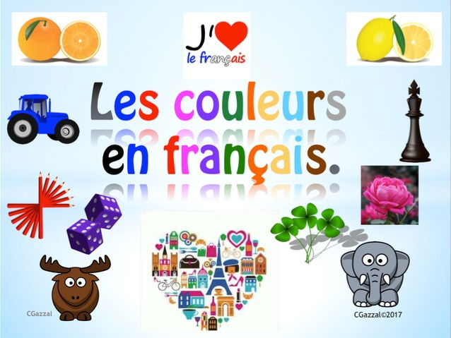French Colours - Les Couleurs.