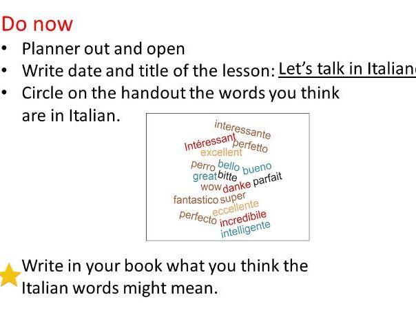 Insights in Italian, mfl club