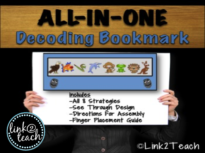 All in One Beanie Baby Decoding Bookmark
