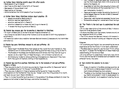 Edexcel Religious Studies B: Christian Beliefs exam questions and answers