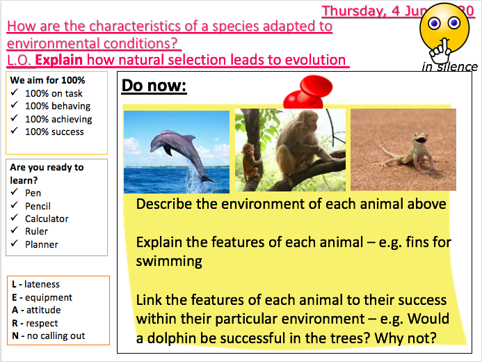 Variation L5 - Natural selection