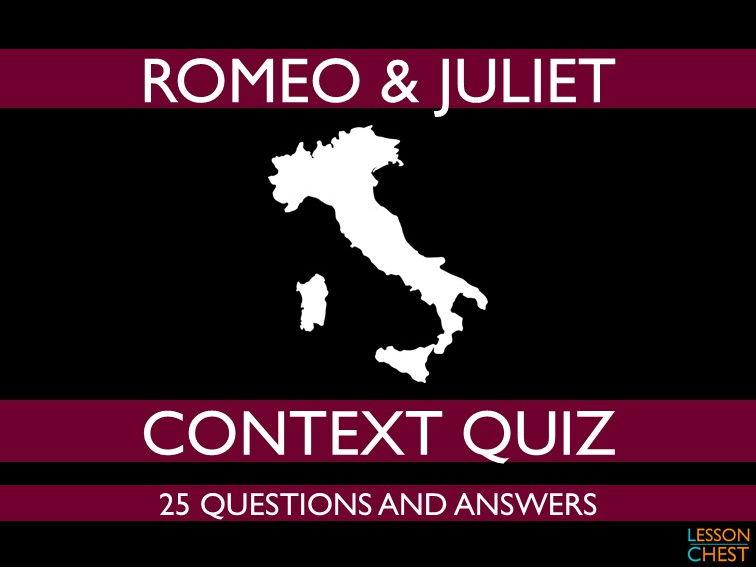 Romeo & Juliet Quiz
