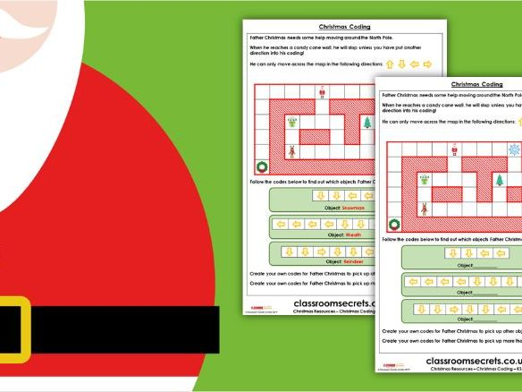 Christmas KS1 Computing Coding Activity