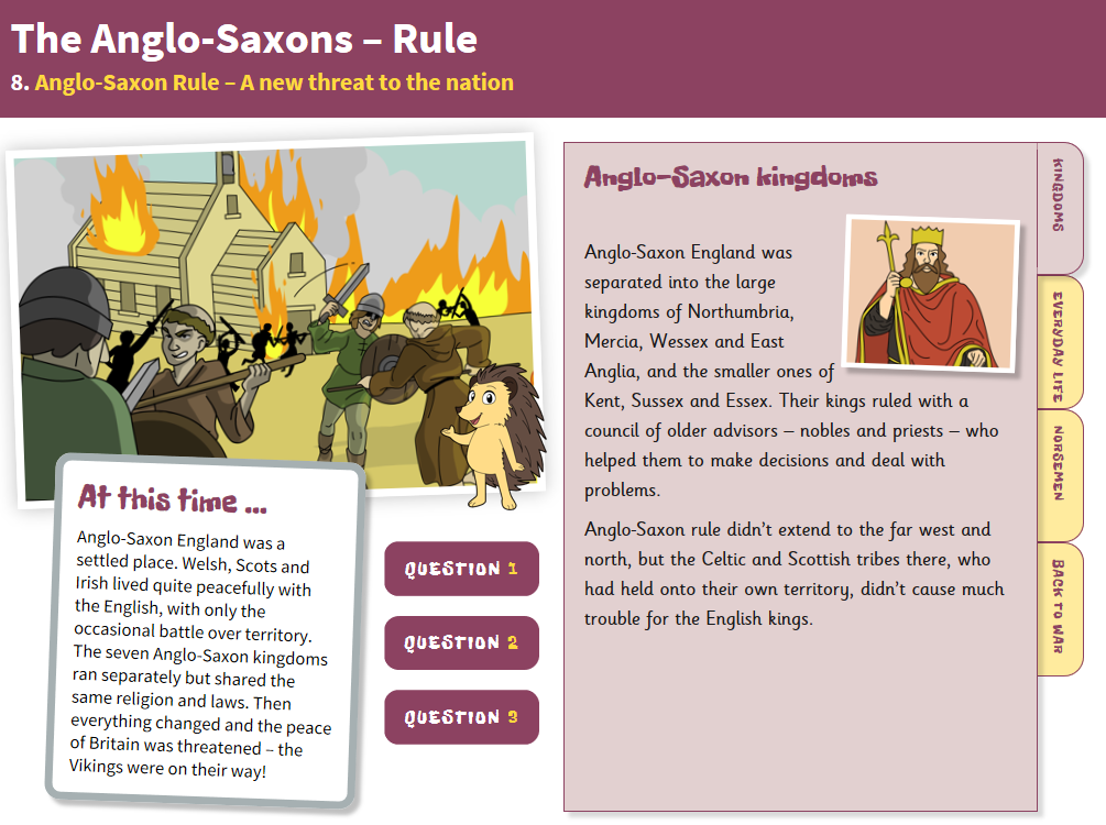 A New Threat to the Nation - Interactive Teaching Book - Anglo-Saxon Britain KS2