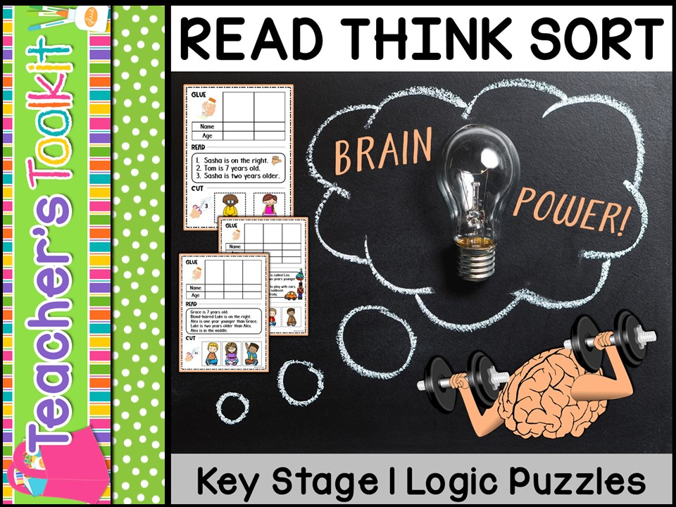 Thinking Skills: Read Think Sort Logic Puzzles