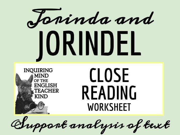 "Grimms' Fairy Tale ""Jorinda & Jorindel"" Close Reading"