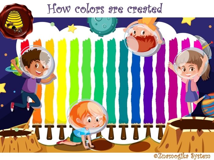 How colours are created