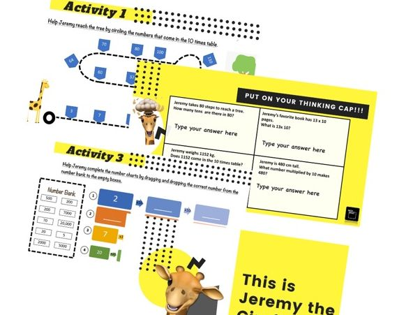 10 times table-digital activity book
