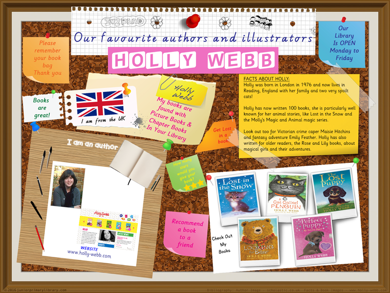 Library Poster - Holly Webb UK Author Of Chapter Books
