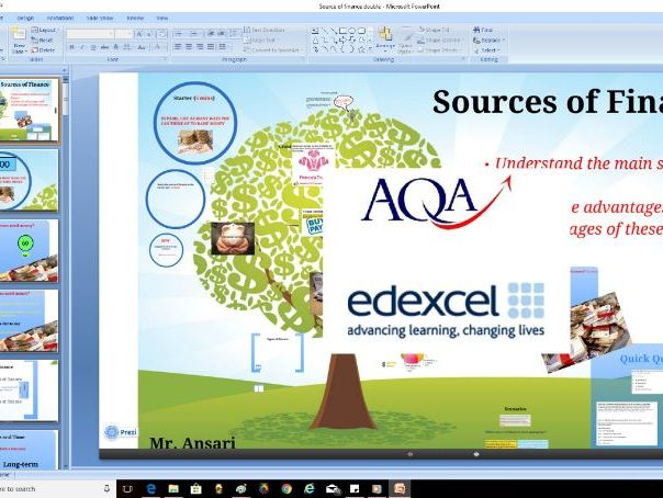AQA Edexcel A Level Business - Sources of finance
