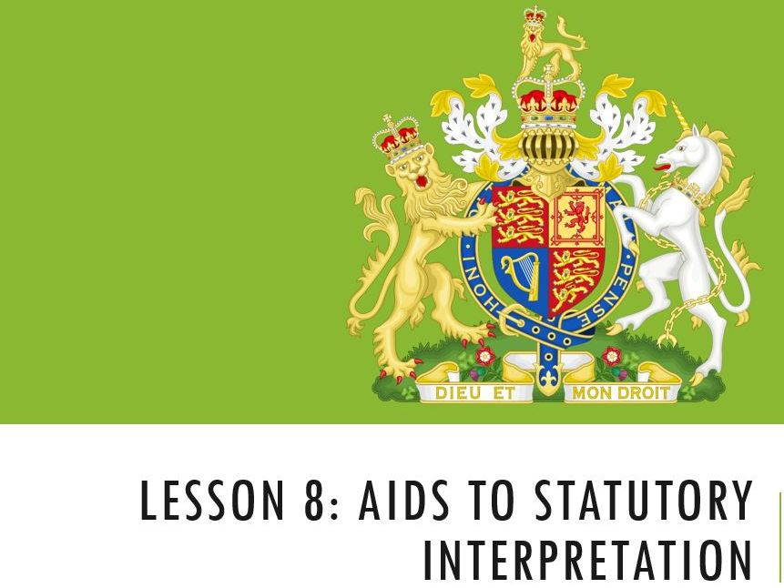 ELS Statutory Interpretation (Lesson 2 of 3)