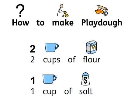Visual playdough recipe