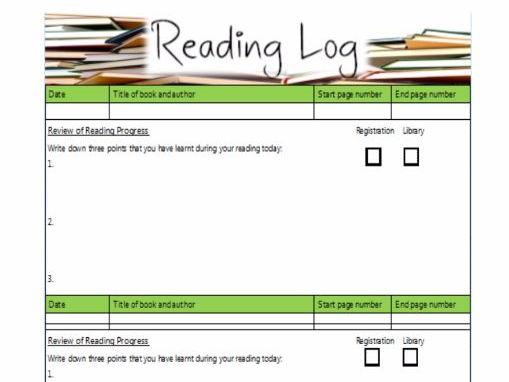 Reading Log/ Reading Tracker