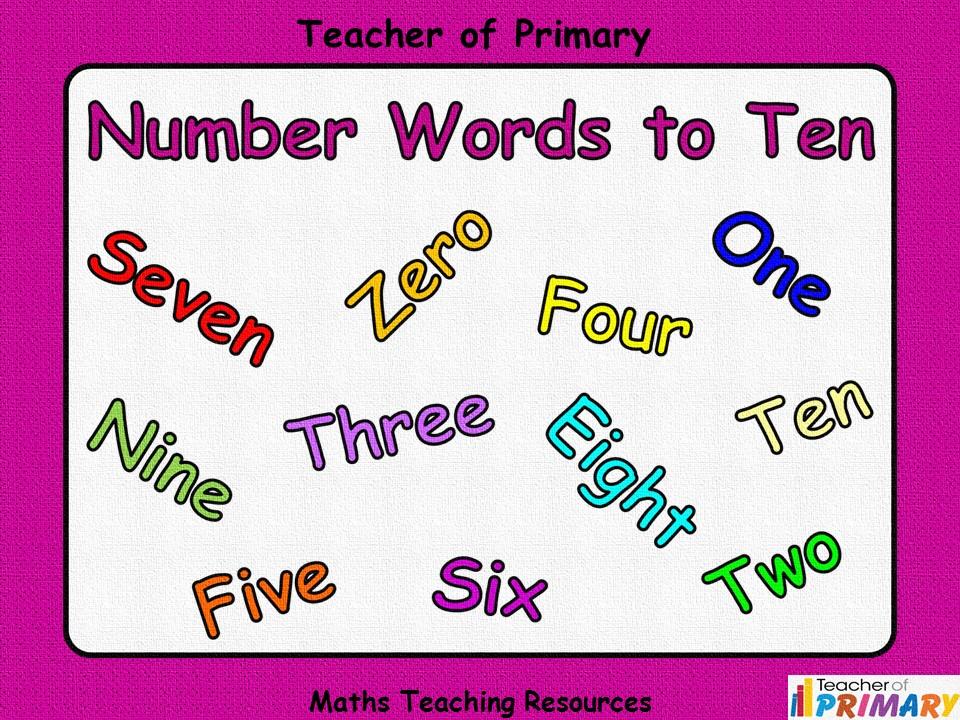 Number Words to Ten