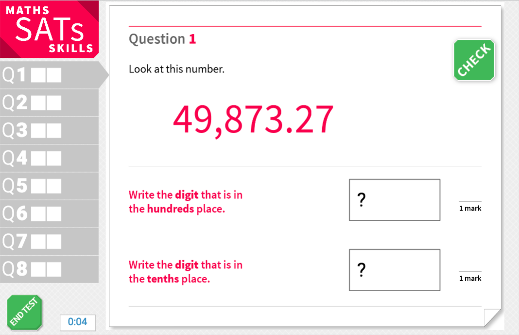 Place value - tenth, hundredth, thousandth - KS2 Maths Sats Reasoning - Interactive Exercises