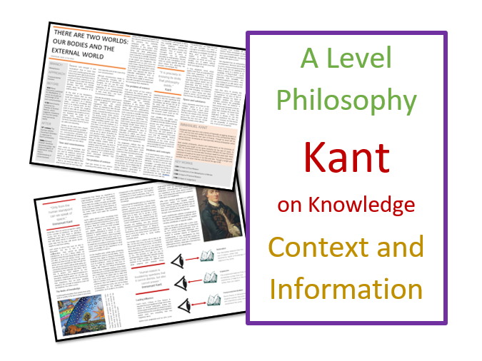 Philosophy: Kant on Knowledge - Context and Information Sheets