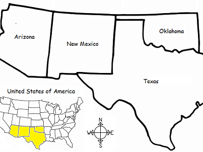 SOUTHWEST REGION OF UNITED STATES - printable handout by ...