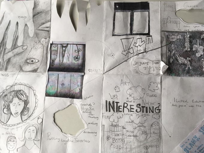 KS3, KS4 or KS5 - How to be creative? Using Keri Smith for inspiration. Make a sketchbook.