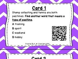 What's the Word? QR Code Task Cards Sets 1 to 3