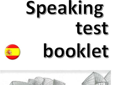 New Spanish GCSE - Speaking test booklet (Edexcel specification)