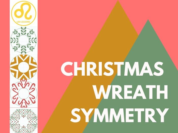 Christmas Maths Symmetry Wreath Pictures