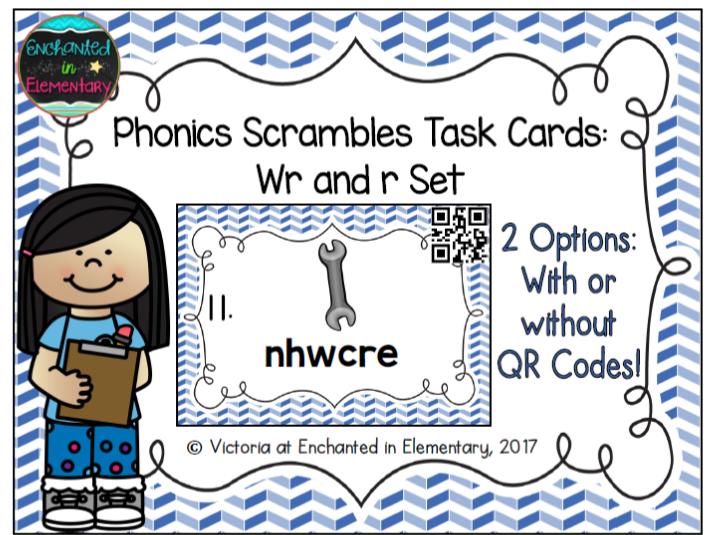 Phonics Scrambles Task Cards: Wr and R Set