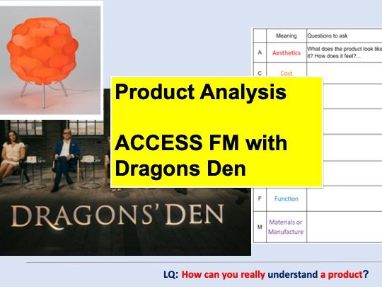 Product Analysis ACCESS FM with Dragons Den