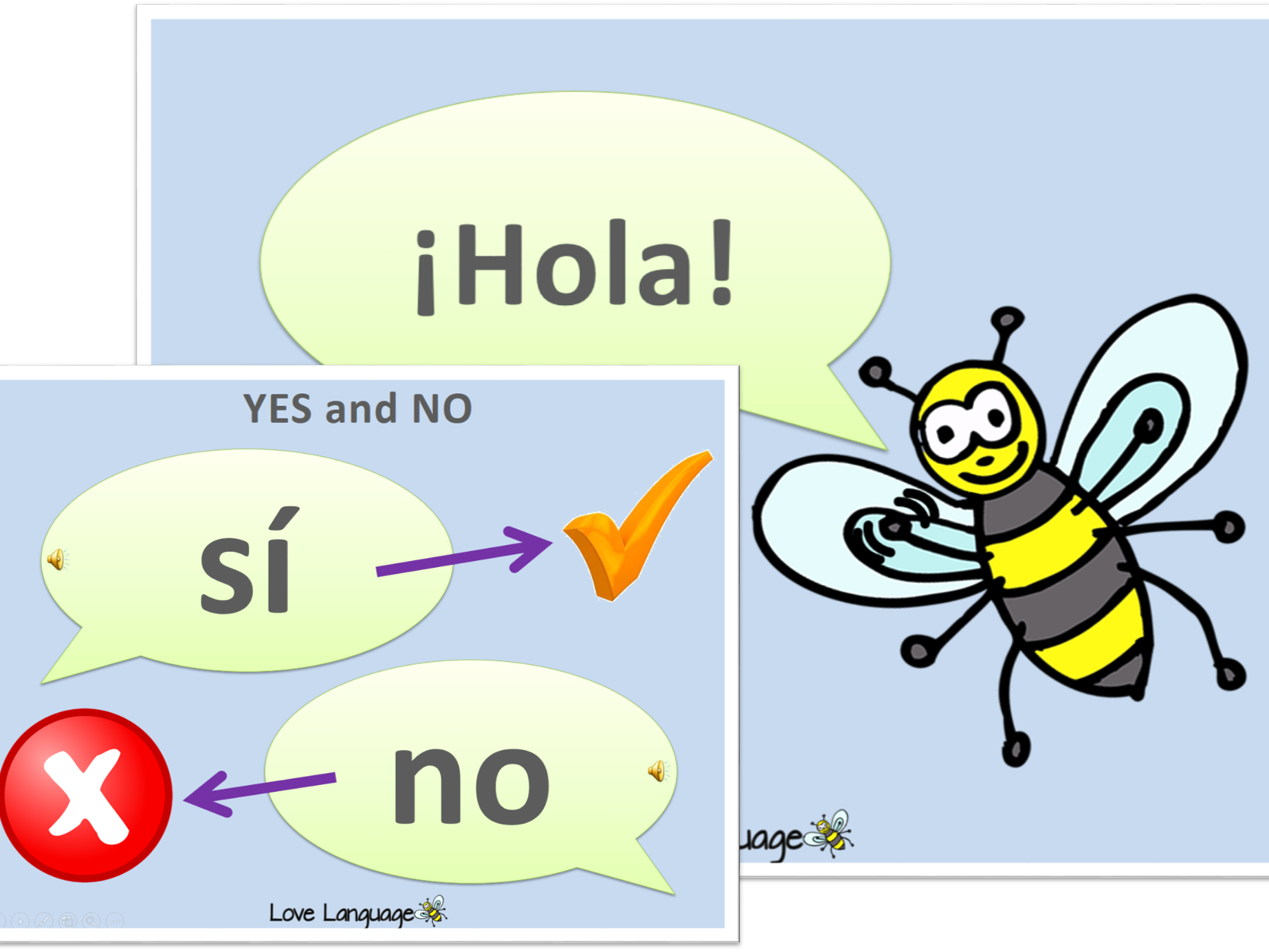 "Greetings and saying ""yes"" and ""no"" in Spanish Bundle"
