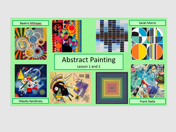 Abstract painting project, Wassily Kandinsky, Frank Stella, Beatriz Milhazes, and Sarah Morris