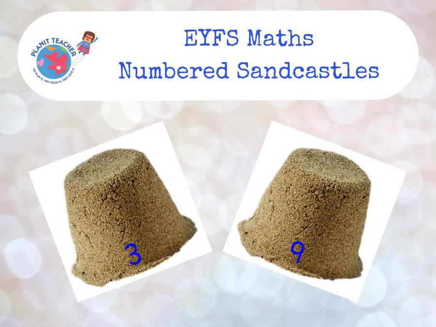 Numbered Sandcastles - EYFS Maths