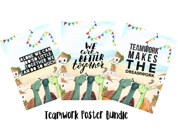 Teamwork Poster Bundle - For classroom or home