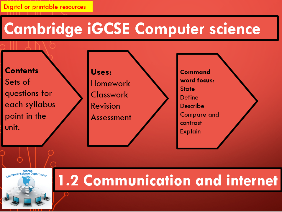iGCSE Computer Science Revision Activities Unit 1.2 Data transmission and Internet