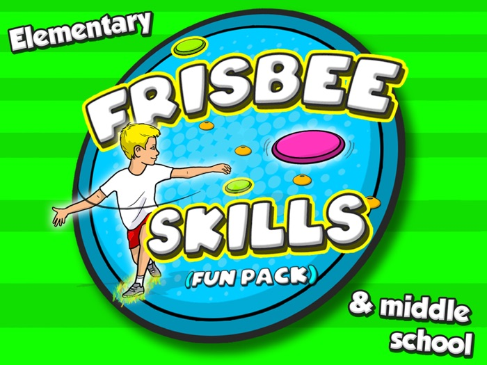 Frisbee Skills & games - fun pack for PE (25 activities for elementary grades)