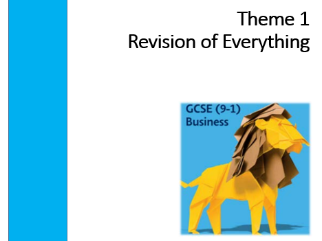 Edexcel 9-1 GCSE Business Theme 1 Revision of Everything
