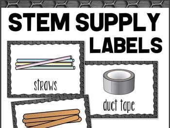 STEM Supplies Labels + Editable Template