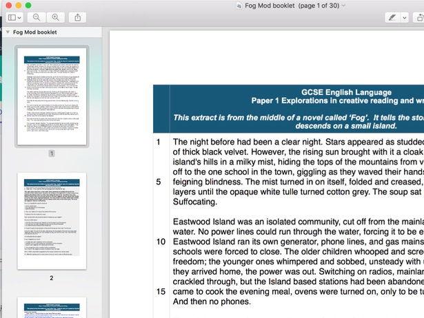 AQA style moderation folderLanguage  Paper 1