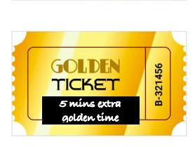 Golden Ticket Prize Tokens