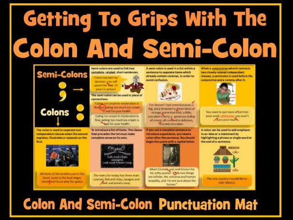 colons and semi
