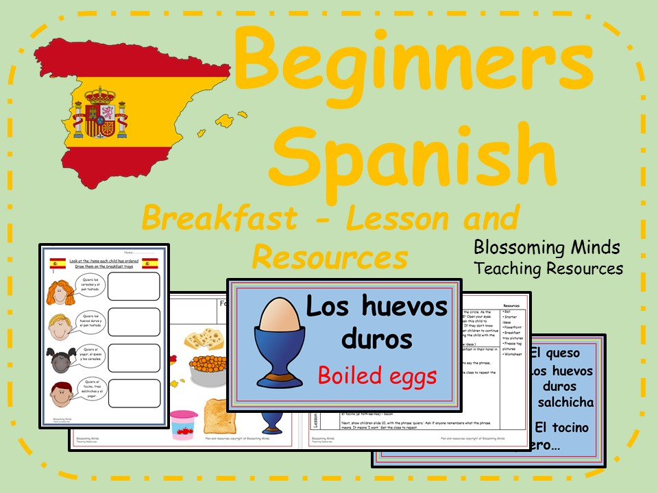 Spanish Lesson and Resources - KS2 - Breakfast