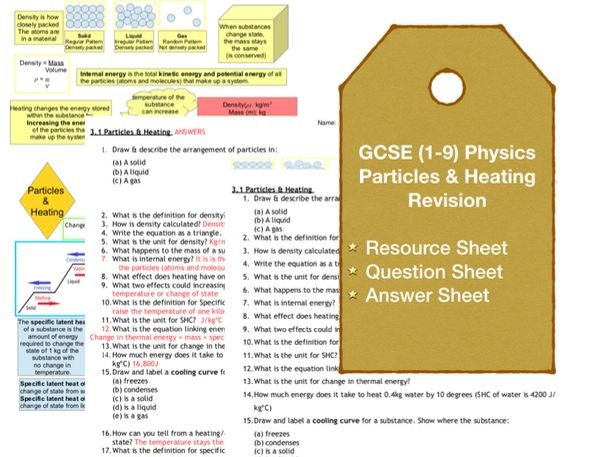 Particles & Heating Revision Questions (1-9 GCSE)