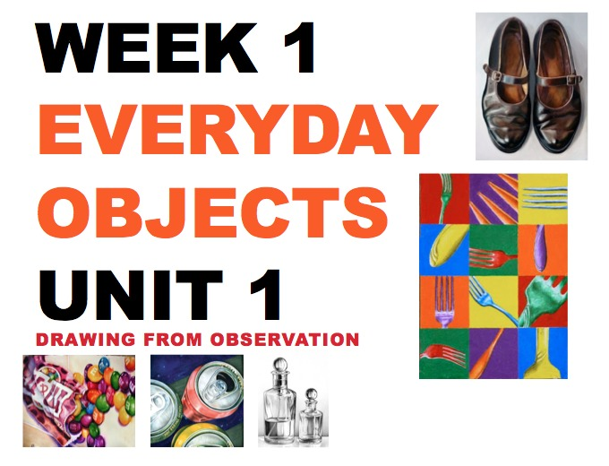 Everyday Objects -Art and Design - AQA GCSE Introductory Drawing & Painting SOW Y9, Y10, Y11 KS4