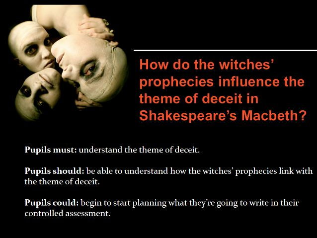 facts on how the witches prophecies in macbeth by william shakespeare Is it the witches and their magical prophecies or macbeth and his shows at the shakespeare tavern playhouse the complete works of william shakespeare.