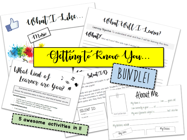 Getting to Know You - BUNDLE - 5 Activities in 1!