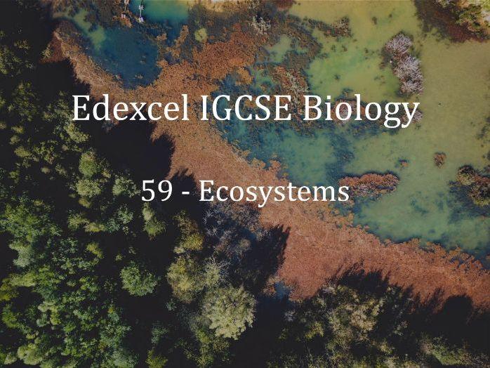 Edexcel IGCSE Biology Lecture 59 - Ecosystems