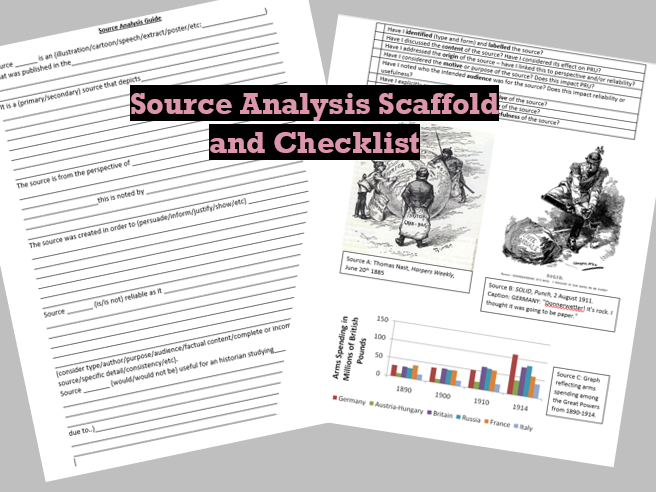 Source Analysis Scaffold and Checklist