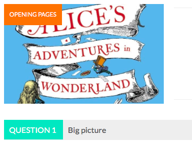 Alice's Adventures: Teaching & Homework Resources: Chapter 1 Vocab List & Comprehension Quiz
