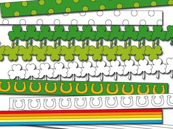 Digital ribbons clipart - St. Patrick's day